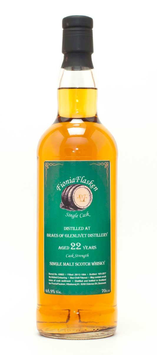 Braes Of Glenlivet 22 år Single Malt Cask Strength, Bourbon Cask, Skotsk Whisky, Speyside