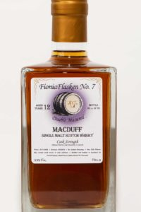 FioniaFlasken No. 7 Macduff 12 år Doubled Matured Cask Strength, Sherry Cask Finish, Single Cask, Single Malt, Skotsk Whisky, Speyside