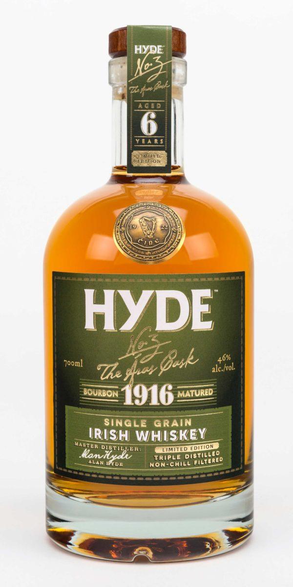 Hyde 6 år Single Grain Irish Whiskey, Bourbon Cask, Hibernia Distillers, Irsk Whiskey, Irsk Whisky
