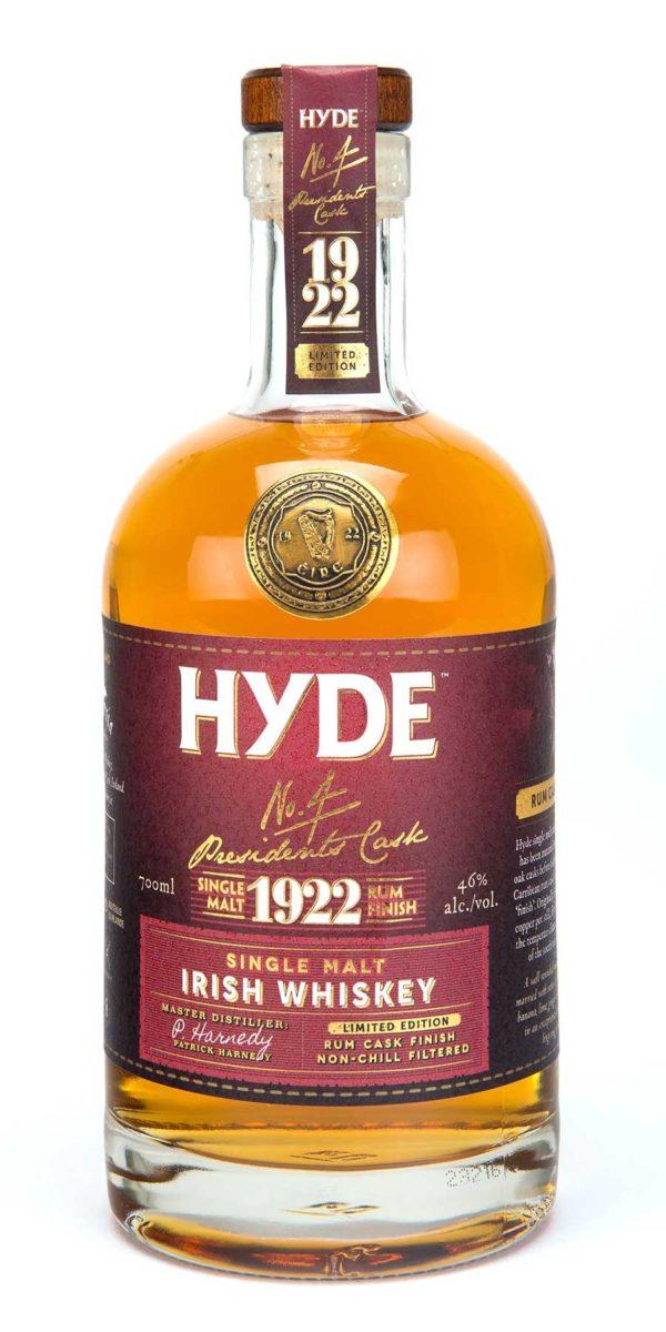 Hyde 6 år Single Malt Irish Whiskey Rum Finish, Bourbon Cask, Hibernia Distillers, Irsk Whiskey, Irsk Whisky, Rum Cask Finish, Single Malt
