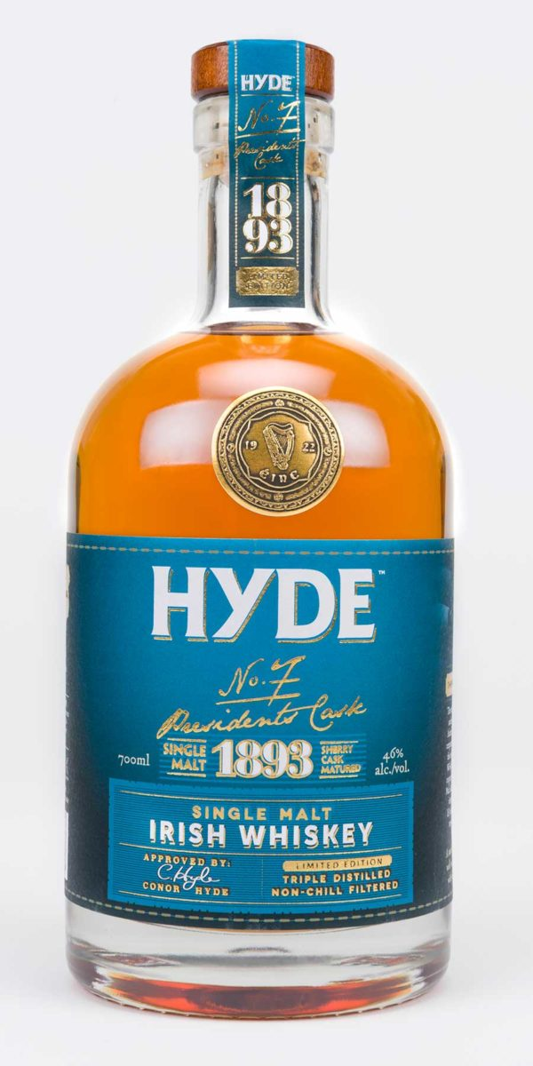Hyde 6 år Single Malt Irish Whiskey Sherry Finish, Hibernia Distillers, Irsk Whiskey, Irsk Whisky