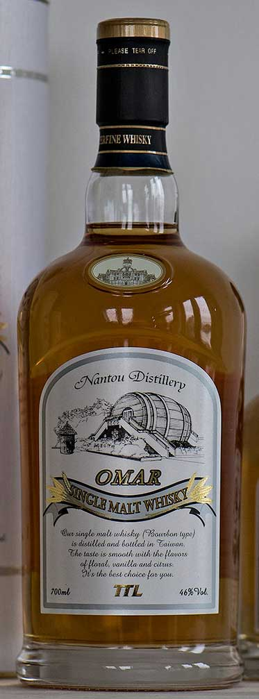 Omar Single Malt Bourbon Cask, Nantou Distillery, Omar, Taiwansk whisky