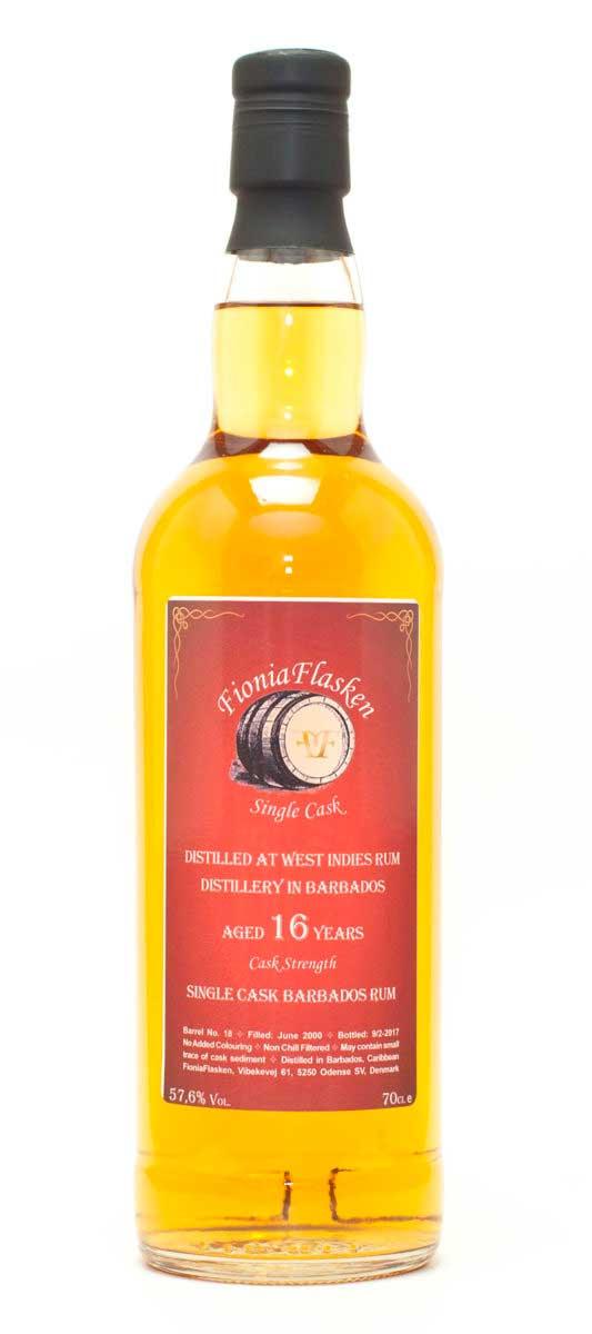 West Indies Rum Distillery 16 år Cask Strength, Barbados, Rom, Single Cask