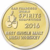Hyde Single Malt Irish Whiskey Sherry Finish ved San Francisco World Spirits Competition 2016 Gold Best Irish Single Malt Whiskey